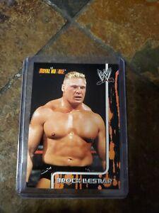 2002 Fleer WWE Royal Rumble Brock Lesnar  rookie base card #4 RC UFC GRADABLE