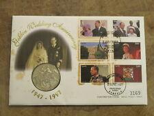 Mercury 1996 Uganda coin cover - Queen Elizabeth II Golden Wedding