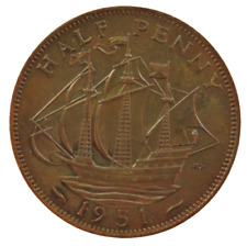 More details for 1951 king george vi halfpenny coin proof - great britain