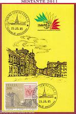 ITALIA MAXIMUM MAXI CARD 567 ESPOSIZIONE MONDIALE FILATELIA '85 1985 TORINO C340