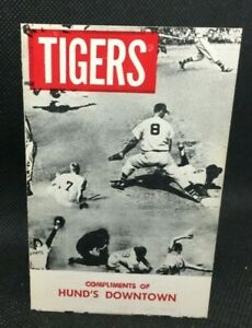 1957 Detroit Tigers Baseball Schedule Hund's Downtown Steakhouse