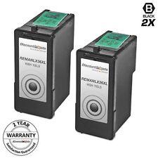 2 Lexmark 36XL BLACK HY Ink Cartridge 18C2170 for 36 XL X6675 Z2420 Printer