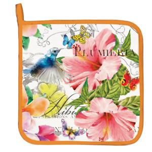 Michel Design Works PARADISE Potholder - Flowers, Bird, Butterflies