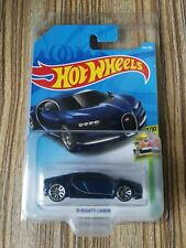 '16 BUGATTI CHIRON BLUE HOT WHEELS 2019 WITH FREE CLAMSHELL
