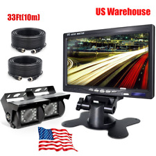"""Truck/Camper/Commercial Vehicle Reverse 4PIN Camera*2+7"""" HD Rear View Monitor"""