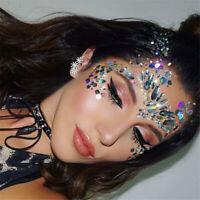 Temporary Tattoo Face Eyebrow Gem Jewelry Rhinestone Body Glitter Sticker Makeup