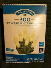 1 Set LED Warm White Mini Style 300 Count Strand Lights Christmas Light-O-Rama