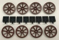 BROWN x 4 Wheel Wagon Small 2470 TW55 LEGO 27mm D.