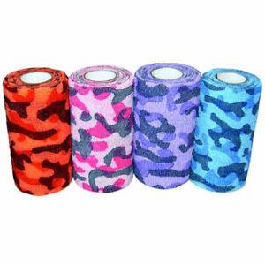 """Andover COFLEX 4"""" Bandaging Tape Flexible Wrap PET FLEX 18 Count CAMO Pack"""