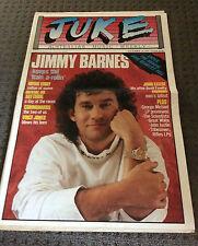 JUKE Australian Music Magazine Nov 21th 1987 #656 Jimmy Barnes Colour Cover