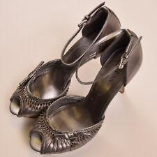 Guess Damen Schuhe Shoes Gr.36 Pumps Sandalette Leder Hackenschuhe Silber 78824
