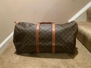 Louis Vuitton Monogram Canvas Keepall 60 Bandouliere Duffle Bag