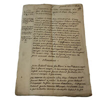 Rare 1600-1700's Handwritten Post Medieval Manuscript Document Old Paper & Ink
