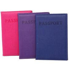 Custodia protezione cover passaporto portafogli viaggio ECO PELLE LISCIA 14x10cm