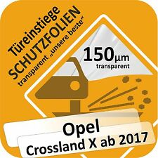 Opel Crossland X Tür Einstiege Schweller Auto Schutz Lackschutz Folie Autofolie
