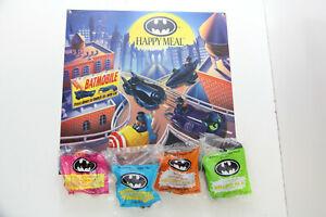 McDonalds BATMAN 4 PC SET SEALED NOS W/ STORE DISPLAY Happy Meal Toy Vintage