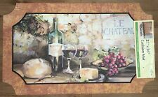 22X36 Fruit Wine Bottles Grapes French Cushion Comfort Kitchen Rug Mat Accent