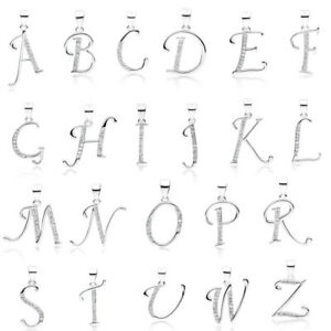 925 Sterling Silver Initial Letter Necklace or Pendant Gift Boxed Present
