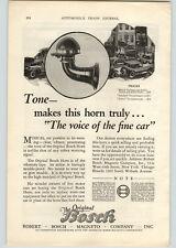 1926 Paper Ad Original Bosch Car Horn  Robert Bosch Magneto Company Chicago