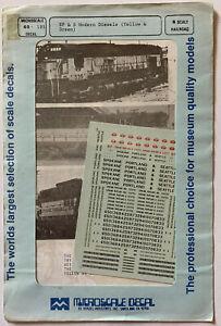 MICROSCALE N SCALE DECAL - SPOKANE PORTLAND & SEATTLE/SP&S CAB DIESELS - #60-102