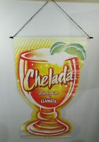 Bud Light Budweiser Chelada Vinyl Banner 38 x 24 Hanging Man Cave Beer 2 Sided