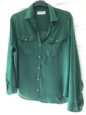 Ladies Abercrombie And Fitch Green Shirt Size L