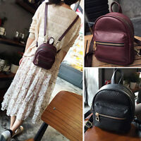 Convertible Small Mini Real Leather Backpack Rucksack Shoulder Bag Purse Cute