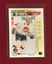 1992-93 Panini FRENCH Sticker Vancouver Canucks #29 Geoff Courtnall