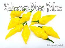 (25+) Habanero Neon Yellow Pepper Seeds