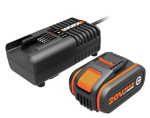 WORX Powershare™ 20V 4.0Ah MAX Lithium-ion Battery & Charger Kit/Combo