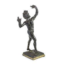 Continental Cast Bronze Statuette Nude Figure Dancing Faun 19th century