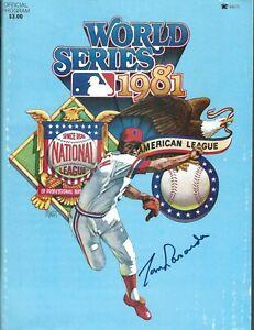 Tommy Lasorda signed 1981 World Series Program DODGERS HOF