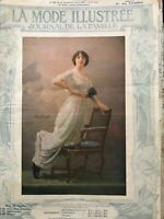 MODE ILLUSTREE SEWING PATTERN June 1st,1913 - Ladies costumes