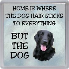 "Flatcoated Retriever Coaster ""Home is Where the Dog Hair Sticks.."" by Starprint"