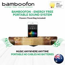 BambooFon - Energy Free Portable Sound System - Flowers (Travel Bag Included)