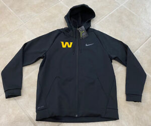 Washington Football Team Nike Black Therma Full Zip 2020 On Field Hoodie Men's L