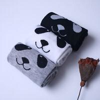 1 Pair Womens Warm Cute Cartoon Panda Print Girls Cotton Ankle High Cut Socks