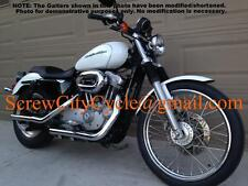 Fork Gaiters Gators Harley Sportster XL 883 1200 Blockhead Ironhead 33.4 - 41mm