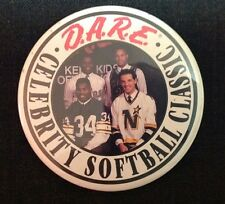 Vintage 1990 DARE Softball Button Bobby Smith Northstars Hershel Walker Vikings