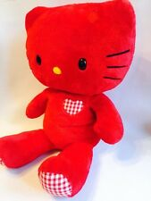 "Hello Kitty rouge Soft Plush Toy. Build a Bear 18"" Tall."