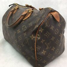100% AUTHENTIC LOUIS VUITTON SPEEDY 30 MONOGRAM CANVAS LEATHER HANDBAG