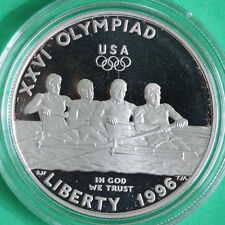 1996 Olympic Rowing Proof Silver Dollar Commemorative US Mint Coin ONLY
