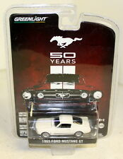 Greenlight 1/64 Scale - '50 Years' 1965 Ford Mustang GT White Diecast model car