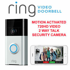 Ring Video Doorbell Satin Nickel Wi-fi 180 Degree View Camera Security 720p