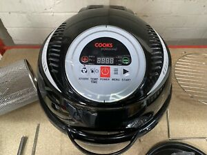 Cooks Professional Digital Air Fryer Rotisserie Halogen Oven 10L & Accessories
