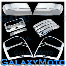 14-16 Chevy Silverado 1500 Chrome Mirror+4 Door Handle+Tailgate+Taillight Cover