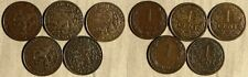 Netherlands:Lot 5 Coins 1 Ct(1905;1906;1913;1918;1922)KM#132.1;#152 VF-XF  IR263