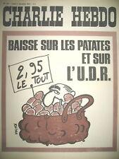 CHARLIE HEBDO N° 108 U.D.R. POMPIDOU VIVE LE BETON REISER CABU GéBé 1972