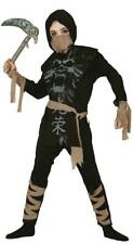 Boys Ghost Ninja Samurai Warrior Fancy Dress Costume Childrens Outfit