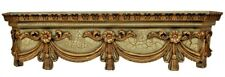 NEW STUNNING Victorian SWAG Ornate SCROLL Gold bed Crown Canopy CUST FINISHES